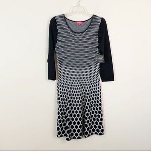 Catherine Maladrino • Black & White Knit Dress
